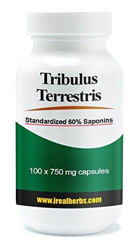 Tribulus Terrestris экстракт, стандартизованный 60% сапонинов 750 мг 100 капсул