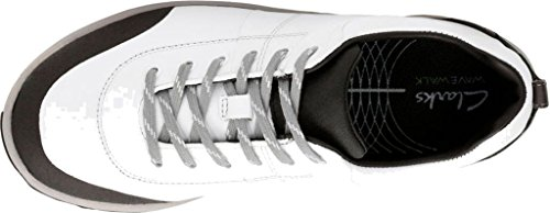 White Leather W Sneaker Andes Wave Womens 6 Clarks pTqOIBn