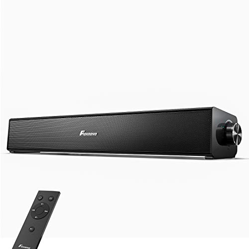 Computer Speakers Bluetooth PC Soundbar: Foxnovo 20W 3D Surrounded PC Speakers 85dB Wired and Wireless Home Theater Audio USB Powered Laptop Speakers for PC |Cell Phone| Tablets | Projector| Pad|TV