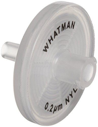 Whatman 6753-2502 Nylon Puradisc 25 Syringe Filter, 0.2 Micron (Pack of 1000) by Whatman