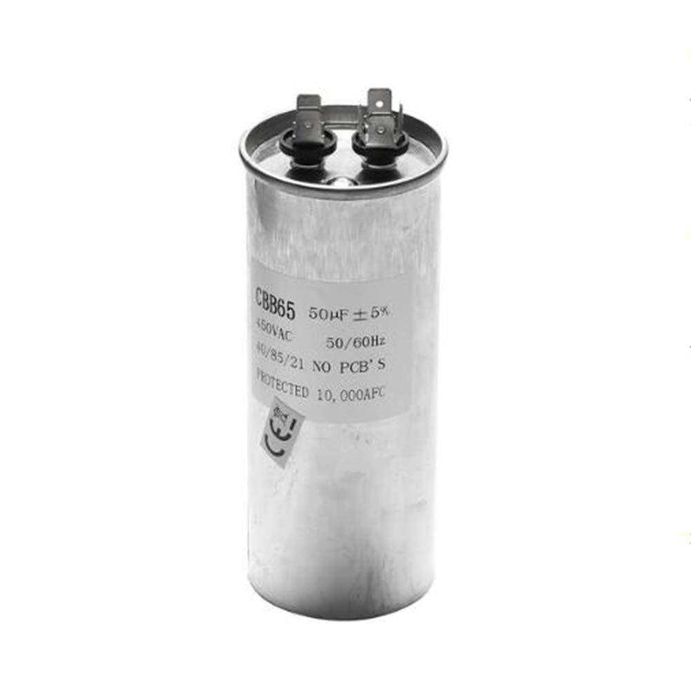 25uF LaDicha 15-50uF Condensador del Motor Condensador de Arranque del Compresor del Aire Acondicionado CBB65 450VAC C