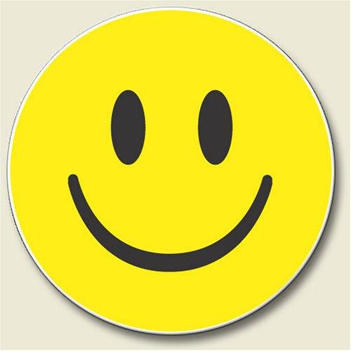 SMILEY face smileyface absorbent AUTO COASTER car NEW