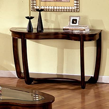 Crystal Falls Glass Top Console Table