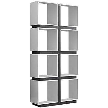 Amazon Com Baxton Studio Barnes 6 Shelf Modern Bookcase White