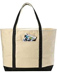 Canvas Tote Beach Bag - Pockets and Shoulder Straps. (22...
