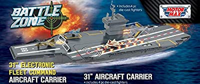 "Fleet Command Aircraft Carrier 31"" (Lights and Sound) + 4 Die Cast Feighter Jets"