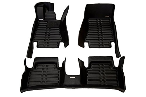 TuxMat Custom Car Floor Mats for Alfa Romeo Giulia RWD 2017-2020 Models - Laser Measured, Largest Coverage, Waterproof, All Weather. The Best Alfa Romeo Giulia Accessory. (Full Set - Black)