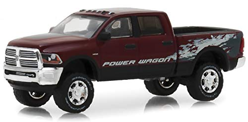 (2016 Dodge Ram 2500 Power Wagon Pickup Truck Delmonico Pearl Red Hobby Exclusive 1/64 Diecast Model Car by Greenlight 29981 )