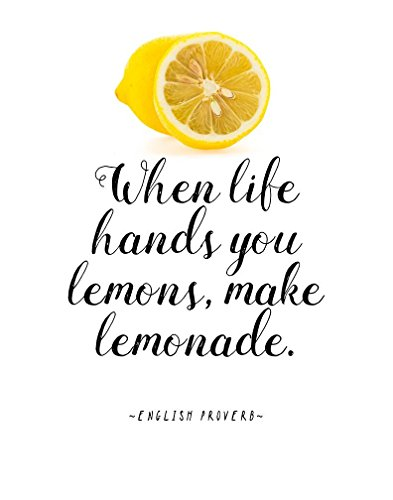 """English Proverb Quote Poster """"When Life Hands You Lemons, Ma"""