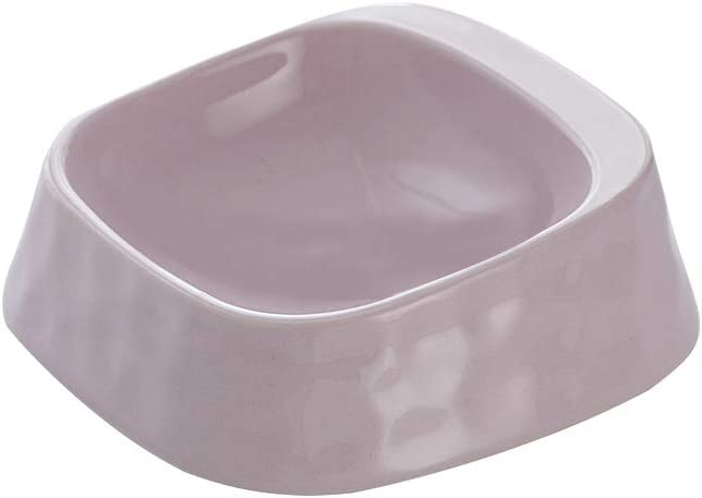 Purple Whisker Stress Free Cat Food Bowl Dog Bowl , Reliefs Whisker Fatigue, Wide dog Cat Dish, Non Slip Dog Cat Feeding Bowls, Shallow Cat Food Bowls, Non Skid Pet Bowls for Cats/rabbit/small dog