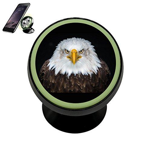 Convenient Cool Bald Eagle Magnetic Car Vehicle Phone Holder 360 With Noctilucent -