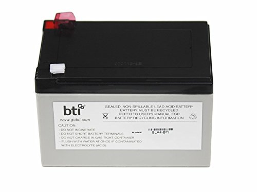 One Ups Battery - BTI RBC4-SLA4-BTI Replacement Battery #4 for APC - UPS battery - 1 x lead acid - for APC Back-UPS 650VA, Back-UPS Pro 650, 650VA, Smart-UPS 620, 620VA, Smart-UPS v/s 650VA
