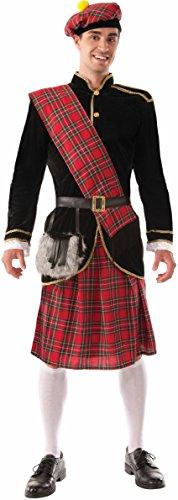 Forum Novelties Men's Scotsman Costume, Red/Black, (Scotsman Fancy Dress Costumes)