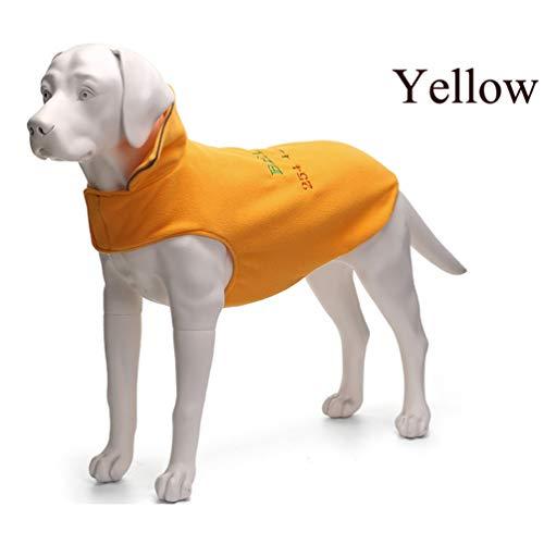 Jim Hugh Dog Jacket for Small Medium Large Windproof Winter Warm Fleece Breeds Embroidered Dog Vest Coat Clothes -