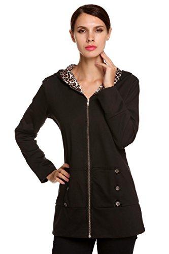 Giacche Sintetica Cool Qenci Nero1 Sleeve Giacca Moda Cappotto Casual Corto Moto Donna Long In Lady Pelle 1ww6B8S