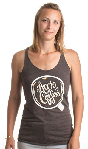 Accio Coffee | Funny Fan Girl, Reading Humor Ladies' Triblend Racerback Tank