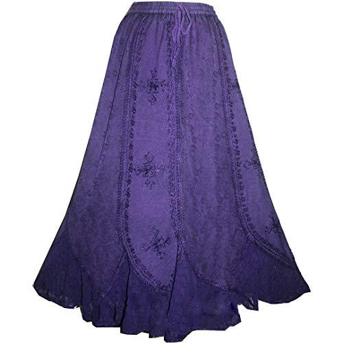 - Agan Traders 711 SK Gypsy Medieval Renaissance Skirt (S/M, Purple)
