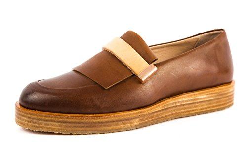 Neosens - Mocasines de Piel Lisa para mujer marrón marrón 37