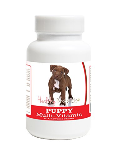Healthy Breeds Pit Bull Puppy Dog Multivitamin Tablet 60 Count