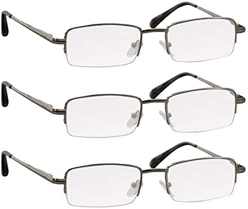 Reading Glasses 2.75 Silver 3 Pack for Men & Women Spring Arms & Dura-Tight Screws Always Have a Stylish Look When You Need It