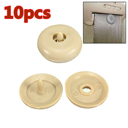 Car Repair Equipments - 10pcs Seat Belt Buckle Clip Retainer Seatbelt Stop Button Beige Plasti For Lincoln - Seatbelt Buckle Stop Button - Replacement Seat Belt