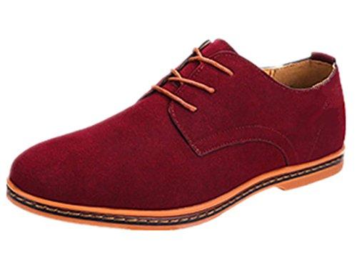Rosso Bebete5858 particolarmente Uomini stile Pelle Grande Uomo 48 scamosciato Dimensione scarpe PU Extra Inghilterra casuale w6Tqwa