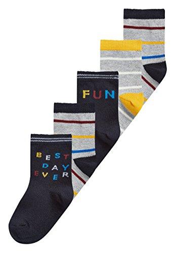 next Niños Pack De Cinco Pares De Calcetines Con Eslogan (Niño Pequeño) Multicolor 9-12 Meses: Amazon.es: Ropa y accesorios