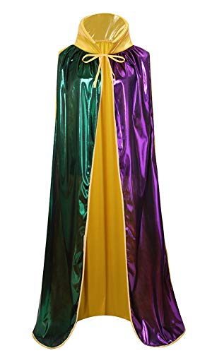 yolsun Mardi Gras Cape, Women Shiny Costume for