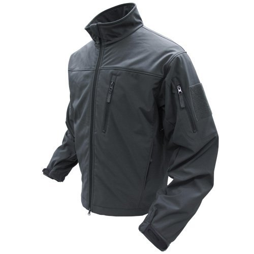 Condor Phantom Soft Shell Jacket (Black, Medium)