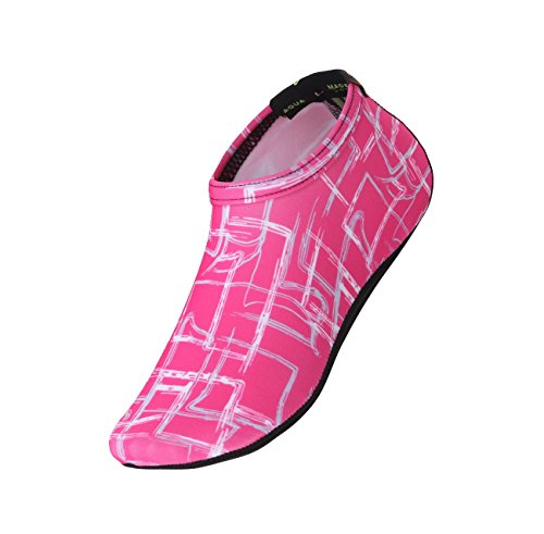 Freely New Barefoot Water Skin Shoes Aqua Socks For Beach Swim Surf Yoga Exercise F.pink 4Qw1PdGNgY