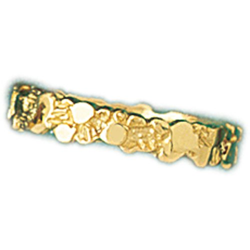 14K Yellow Gold Nugget Ring (Yellow Ring Gold Nugget)