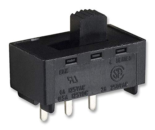 L102011MS02Q - Slide Switch, SPDT, Vertical, Through Hole, 4 A, 125 V RoHS Compliant: Yes (Pack of 20) (L102011MS02Q) by C & K COMPONENTS