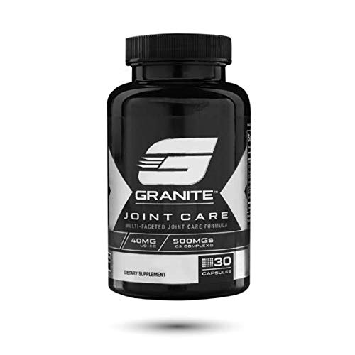 Joint Care by Granite Supplements | 30 Capsules of Joint Care to Maintain Joint Flexibility, Health, and Pain Relief | Includes Undenatured Collagen, Curcumin C3 Complex, and Bioperine
