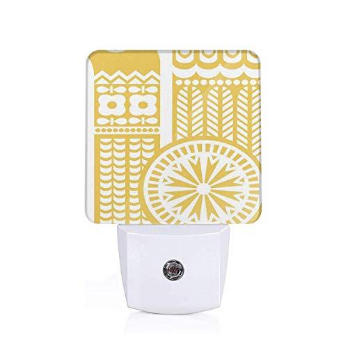 Shepinqee Nutmix Retro Design Floral Motif Decoration Hallway 0.5W Wall Lamp