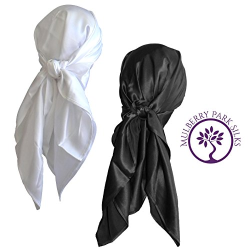 Pure Silk Hair Head Scarf, 100% Pure Mulberry Silk, OEKO-TEX Certified, Provides Chemotherapy Comfort and Supports Hair Regrowth