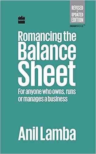 buy romancing the balance sheet for anyone who owns runs or