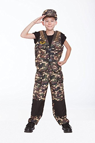 [Halloween Wholesalers Boy's Combat Captain-Small/Medium Army Black] (Army Men Halloween Costumes)