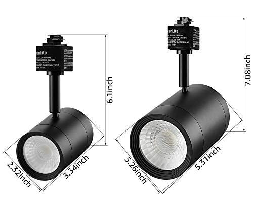 LEONLITE 4 Pack 8.5W(50W Equiv.) Integrated CRI90+ LED Black Track Light Head, Dimmable 38°Beam Track Lighting, 500lm Energy Star ETL-Listed, for Accent Task Wall Art Exhibition, 2700K Soft White by LEONLITE (Image #7)