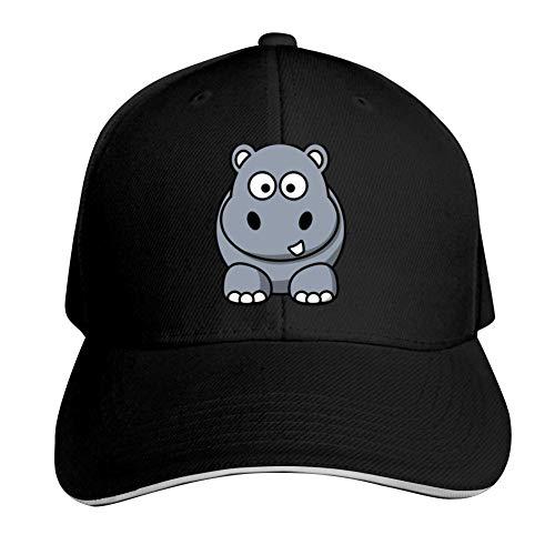 GGHAT Rhinoceros Adjustable Hat Cool Hat Men Women Walking Running Cycling Golf Black ONE Size