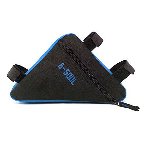 Qzc Bike Seat Pack Bike Bag Cycling Bicycle Frame Front Triangle Bag Bike Under Seat Top Tube Bag For Bike Tube Frame (Blue)