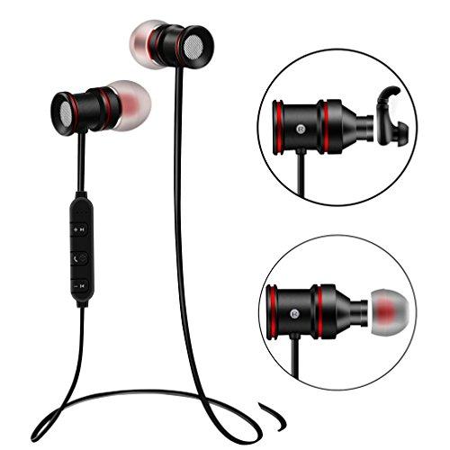 Creazy Wireless Sports Bluetooth V4.1 Headphone Earbuds Headset Earphone In-Ear (Black)