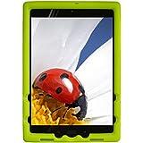 Bobj Rugged Cover for ASUS ZenPad Z10 (ZT500KL, P00I) and ZenPad 3S-10 (Z500M, P027) - BobjGear Custom Fit - Patented Venting - Sound Amplification - BobjBounces Kid Friendly (Gotcha Green)