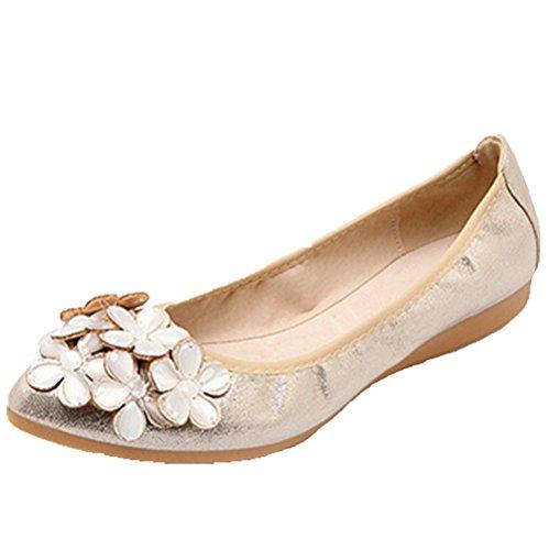 Opsun Ballet Women's Ballet Flats Flats Gold Women's Gold Opsun SFPw5qT