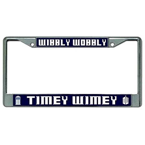 Amazon.com : Wibbly Wobbly Timey Wimey Dr. Who Photo License Plate ...