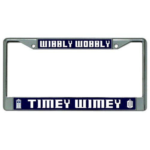 Wibbly Wobbly Timey Wimey Dr. Who Photo License Plate Frame ()