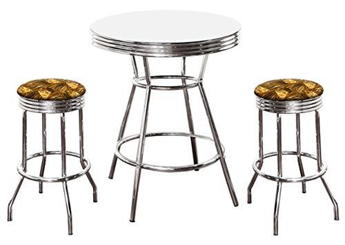 Tigers Chrome Bar Table - The Furniture Cove 36