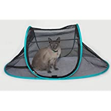 Nala and Company - The Cat House Outdoor Pet Enclosure for Indoor Cats - Portable, View, Pop Up Tent for Deck, Patio, Porch, Yard, Balcony & RV Travel - Includes Storage Pouch