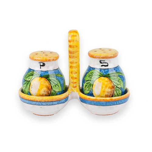(Hand Painted Limone Salt and Pepper Set from Italy)