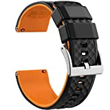 Ritche 19mm Silicone Watch Bands Quick Release Rubber Watch Bands for Men