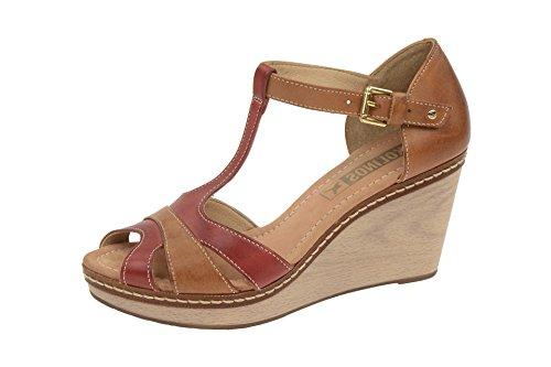 Pikolinos W0b-0620 Sandia - Sandalias de vestir de Piel para mujer Rojo